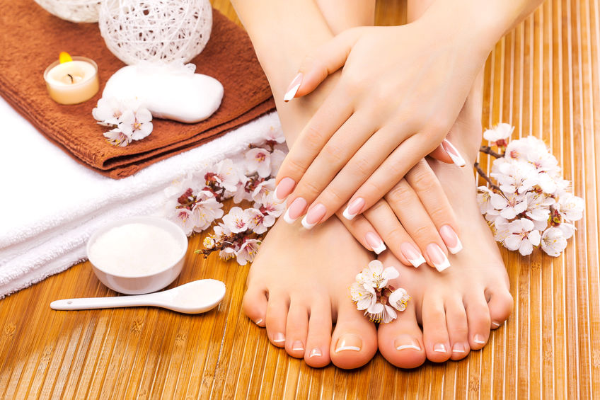 Manicure and pedicure image