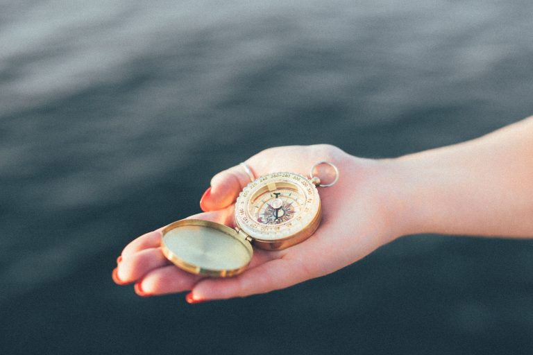 compass on a boat